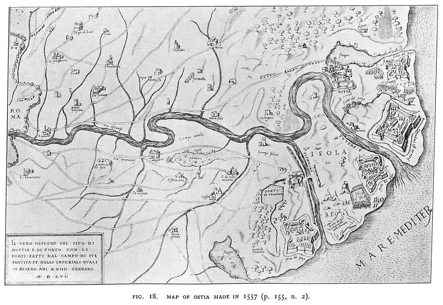 mappa di ostia
