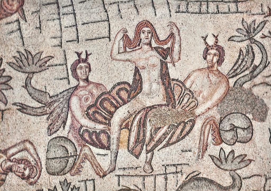 Mosaico de Vênus Anadiômena em Ostia, Itália.